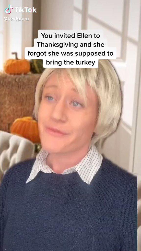 She does a pretty good Ellen 😂
