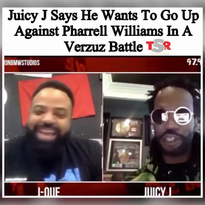 Are y'all here for a Juicy J and Pharrell Verzuz battle?!👀