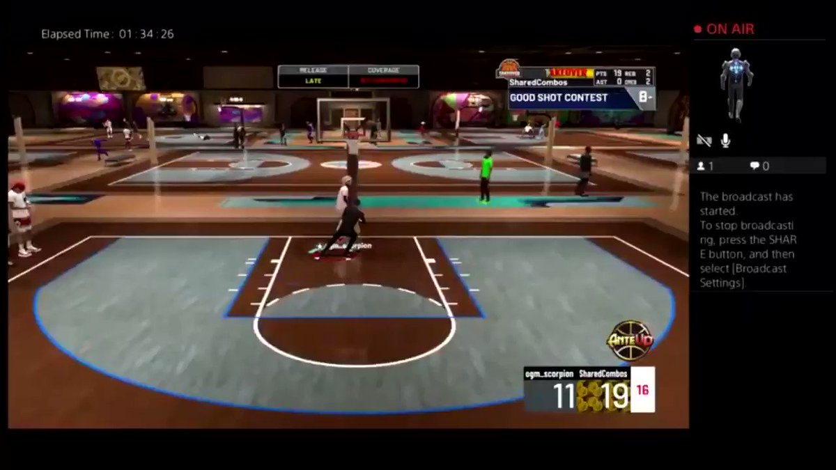 If you don't usually see playshots streak in stage come tune in  #2kCommunity #2KFest #2kCommunity #2kfreeagent @2kDiscord @2KDogReport @2KCrewFinder