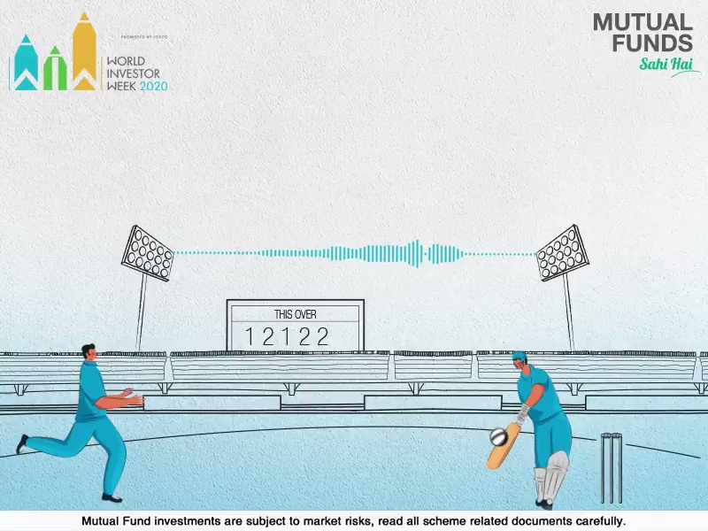 Regularly scoring ones and twos in Cricket can help put up or chase a big total. Similarly, being disciplined and regular with your Mutual Fund investments through SIP can help you get closer to your financial goals. Know more: . #MutualFundsSahiHai