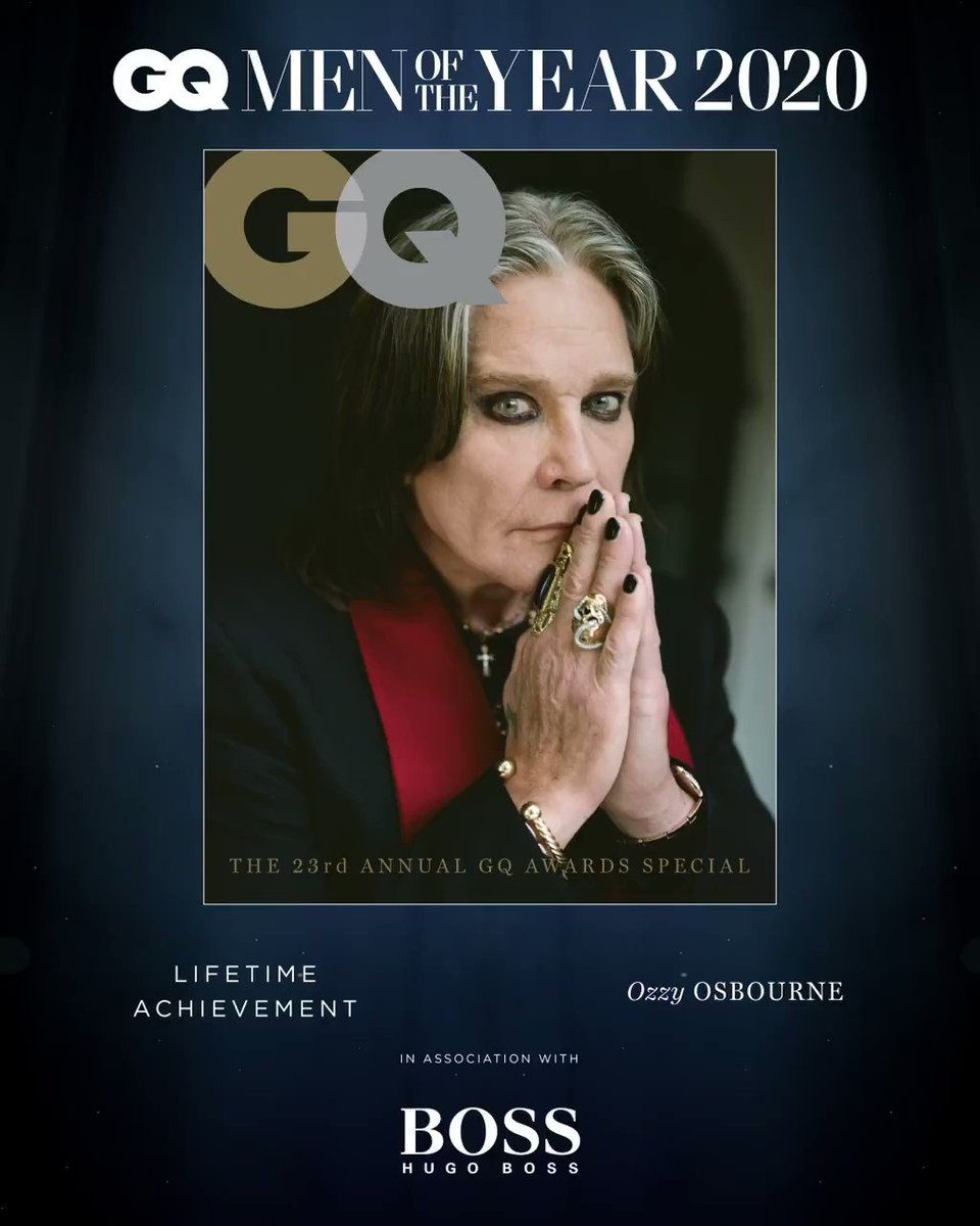 50 years since @BlackSabbath took metal to the masses, with his new album and a world tour-in-waiting, the band's frontman is still far from ready to retire his solo career. @OzzyOsbourne receives our Lifetime Achievement Award.     #GQAwards #BOSSxGQAwards