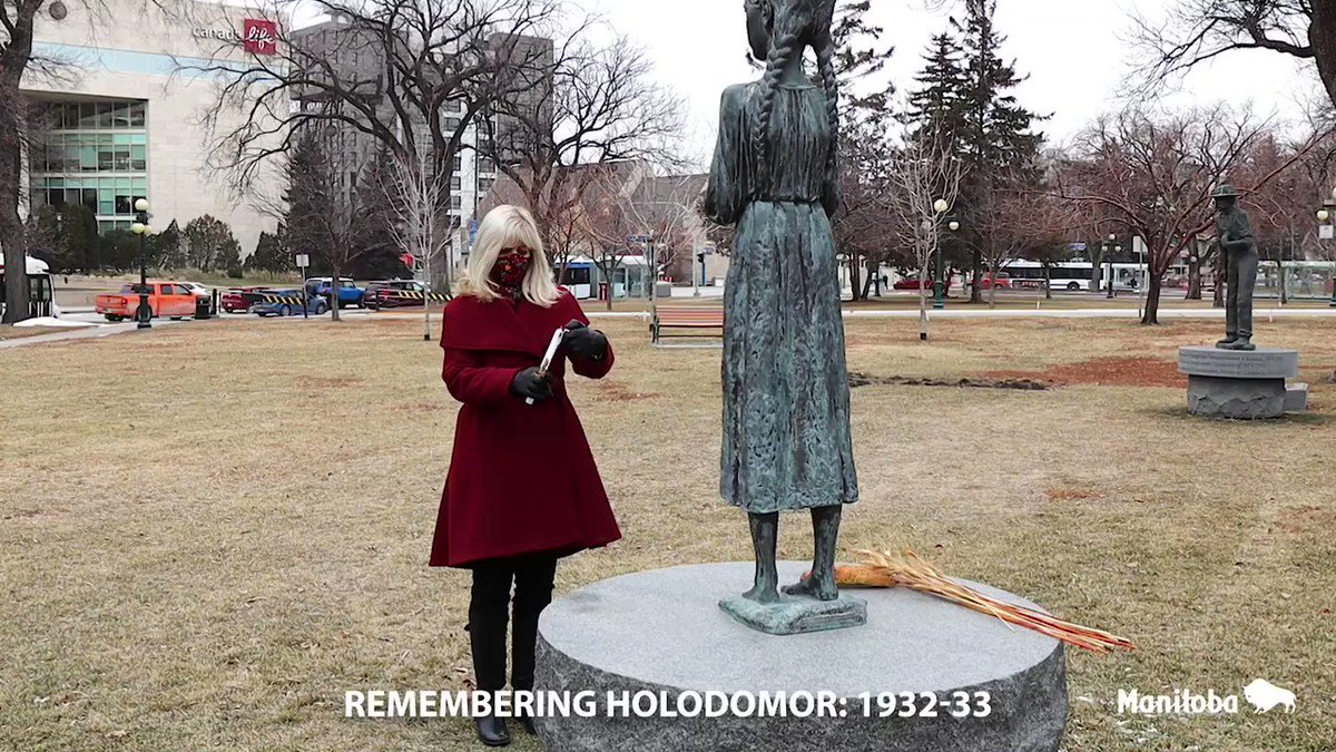 Today I was honoured to rise in the Chamber of the Manitoba Legislature to remember the many innocent Ukrainians who had their lives so senselessly cut short by the #Holodomor.While we can't gather together, my heart & prayers are with our Ukrainian community. #VichnaYimPamyat
