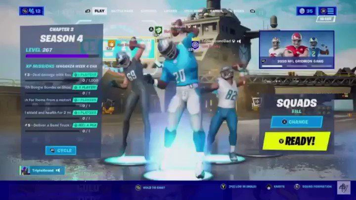 We played with #NFL skins & tried to do synchronized TD dances with each squad wipe - easier said than done...  🎮 #gamer #gaming #fortnite #FortniteClips @MighmaRT @rtsmallstreams @promo_streams @streamers_rt @SUM_RTs #Thanksgiving #ThanksgivingFootball