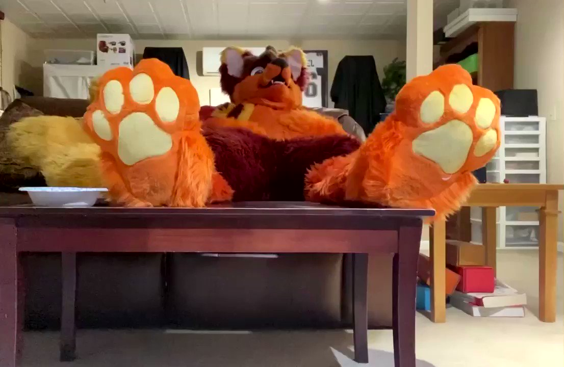 Getting up after Thanksgiving dinner be a struggle x.x #FursuitFriday
