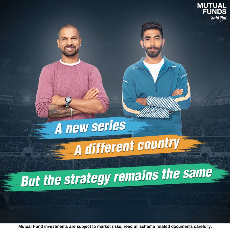 When it comes to #TeamIndia, they put their best foot forward by being disciplined, studying their opponents & working towards lifting the trophy! Likewise, you can step closer to your financial goals through a disciplined approach of SIP. #INDvsAUS #MutualFundsSahiHai