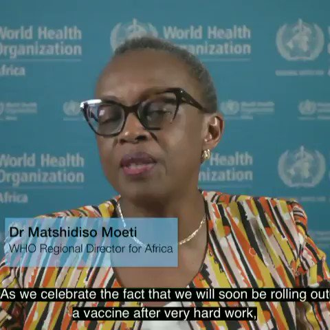 Dr @MoetiTshidi speaks about #COVID19 vaccine readiness in the Region & the importance of speeding up preparation for rolling out the vaccine. In the meantime, countries must also continue to prevent an uptick of cases.