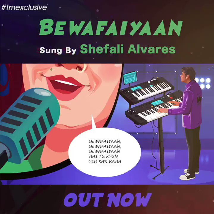 Groove to #tmexclusive @ShefaliAlvares' latest cool track 'Bewafaiyaan'. Streaming on all music platforms🎶  Composed & Produced by @FunktubOfficial  written by #AnvitaDutt  >>  . . .