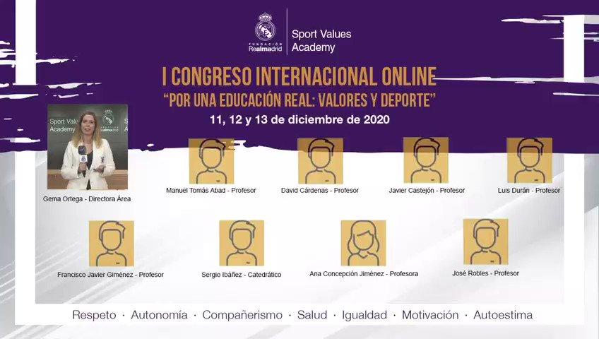 """Gema Ortega, nuestra directora del Área de Formación, nos cuenta cómo será el I Congreso Internacional Online """"Por una Educación REAL: Valores y Deporte"""" que se celebra los días 11, 12 y 13 de diciembre 🎓⚽️🏀 Apúntate aquí👉🏽"""
