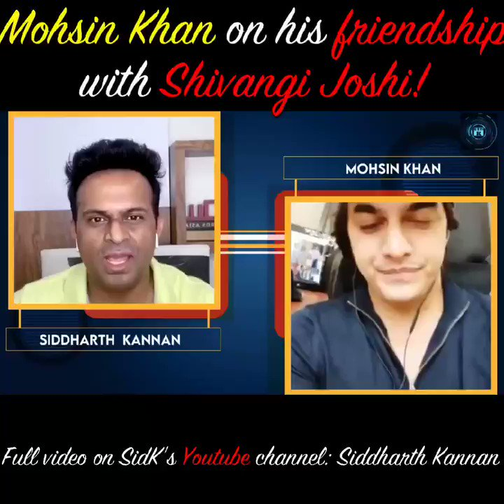 #mohsinkhan opens up about his friendship with @shivangijoshi10!  Watch the full video on my @YouTubeIndia channel:   #Sidk #SiddharthKannan #mohsinkhan✨ #shivangijoshi #yehrishtakyakehlatahai #bollywoodnews #Bollywood