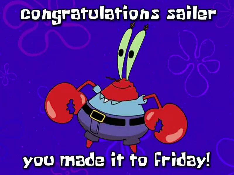 Replying to @FridaySailer: