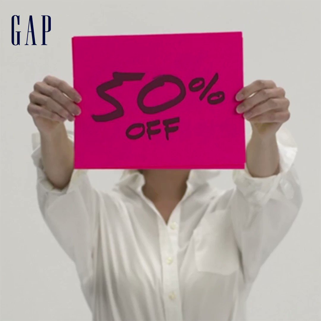 BLACK FRIDAY IS HERE!   50% OFF EVERYTHING + Get an EXTRA 10% off with code GAPFRIDAY. Even better? We've got Really Big Deals AKA doorbusters on our best stuff from cozy socks to PJs and comfy sweats.    Make them yours—but hurry: https://t.co/bPXN4oUB7o. https://t.co/YVhS0eWyuK