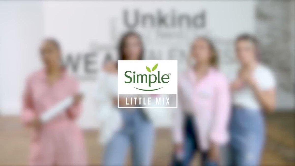 In a world where nearly 1 in 3 teens experience bullying online, choose kindness 👏  #FlashbackFriday to one of my favourite @Unilever collabs - the brilliant @LittleMix x @simpleskin! #DitchtheLabel #ChooseKindness