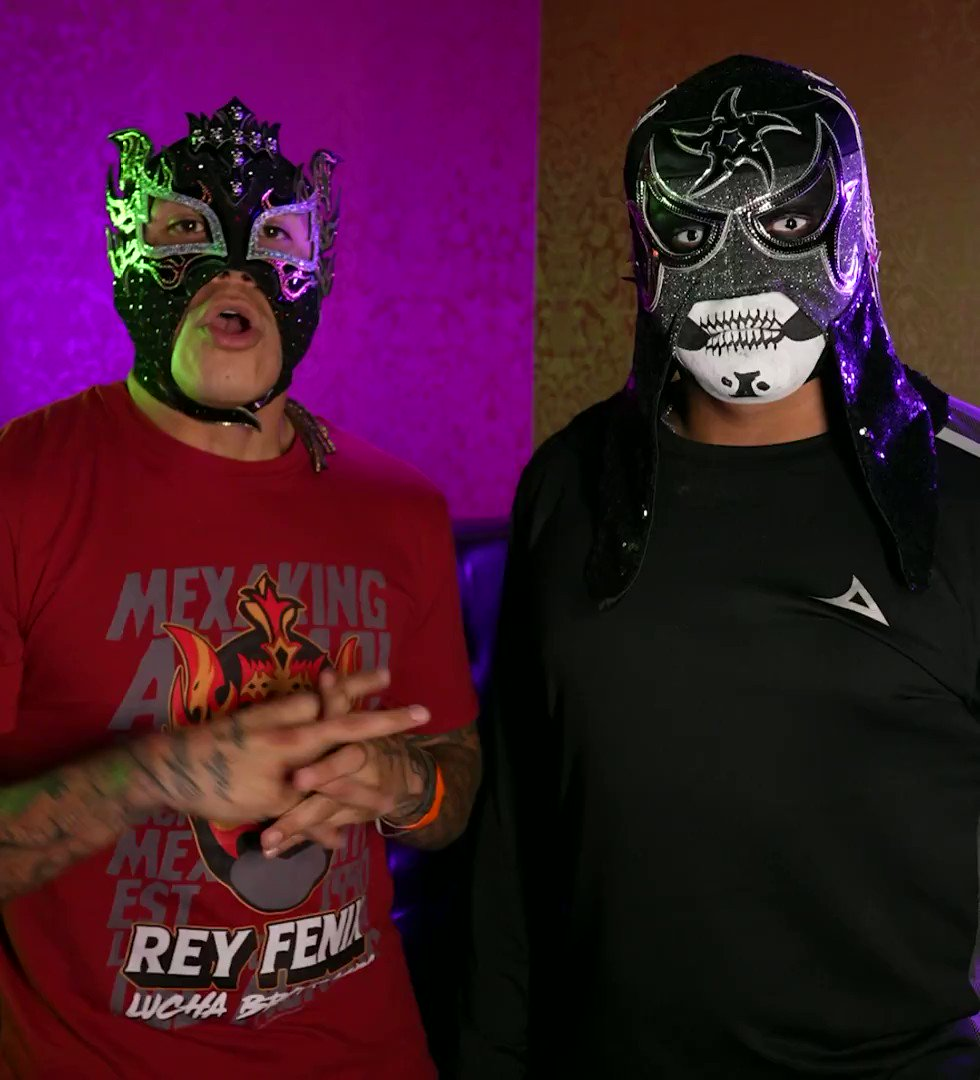 Penta El Zero Miedo e Rey Fénix já mandaram o recado! Amanhã tem #AEWSpace , às 23h, no SPACE! 👊💥 https://t.co/vuCDwjXohQ