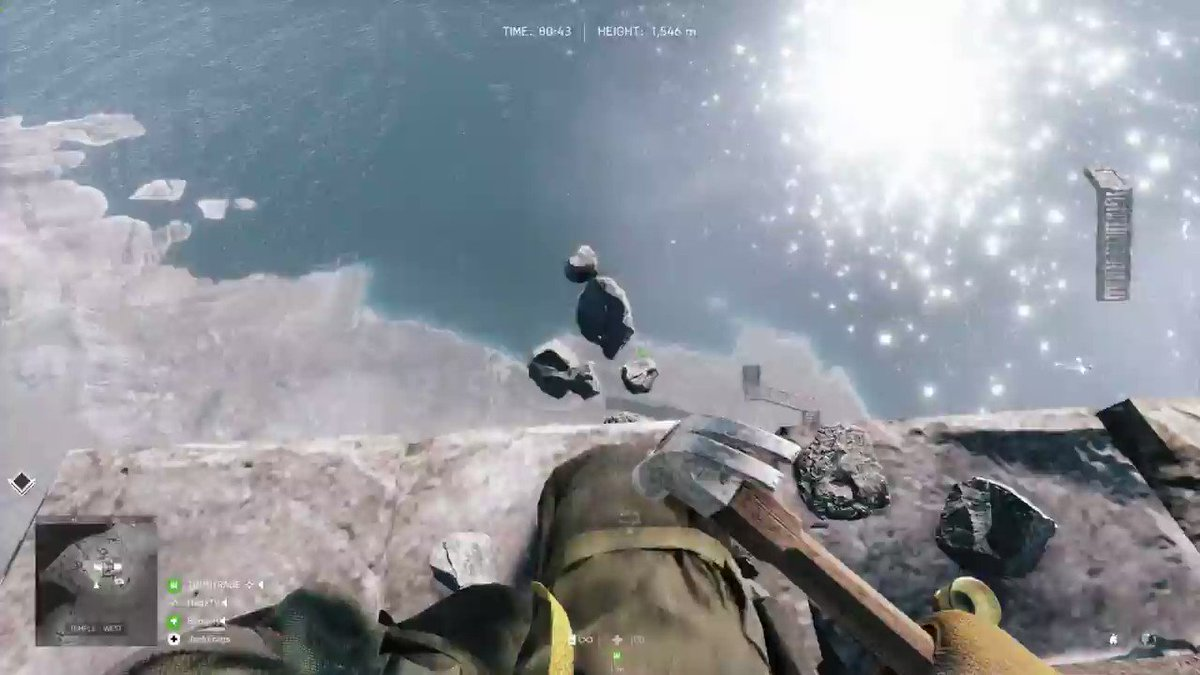 jackfrags - These @Battlefield Easter Eggs are next level... 1546m in the air after 80 minutes of building.  Featuring @2AngryGamers and @hadztv !