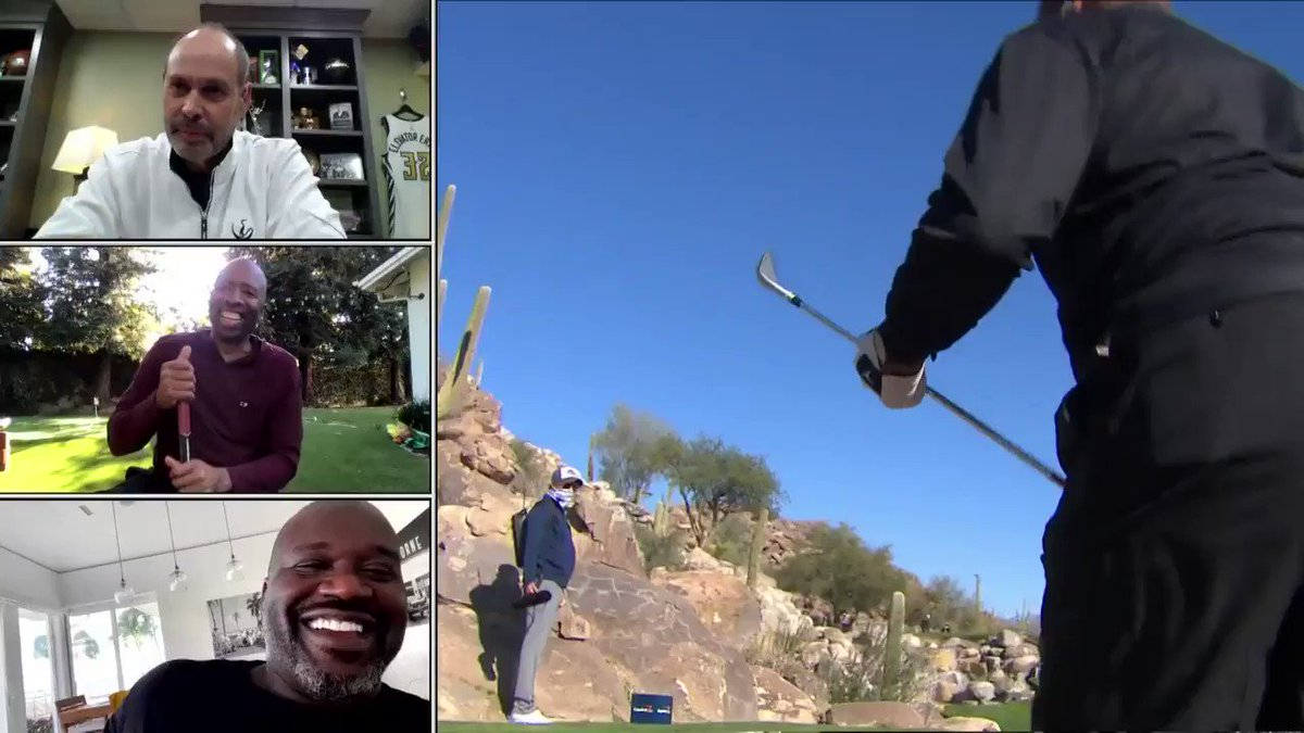 .@PhilMickelson had golf balls with@shaq's face on them made for Chuck💀💀 #capitalonesthematch https://t.co/hWfQDpqvt2