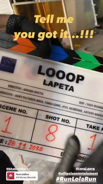 Congratulations @atulkasbekar, @taapsee, @TahirRajBhasin, @shreya_dhan13 & the entire cast and crew of #LooopLapeta! Can't wait to see you all in action!  #SidK #AakashBhatia @EllipsisEntt @tanuj_garg