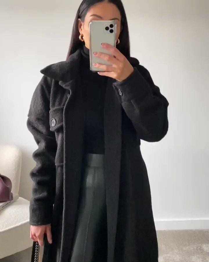 Image for Stylists Pick 🖤  The lauren longline shirt coat 📸 Shop all new 👉🏽 https://t.co/5y08kiUfWH https://t.co/4eWBx0ZgoL