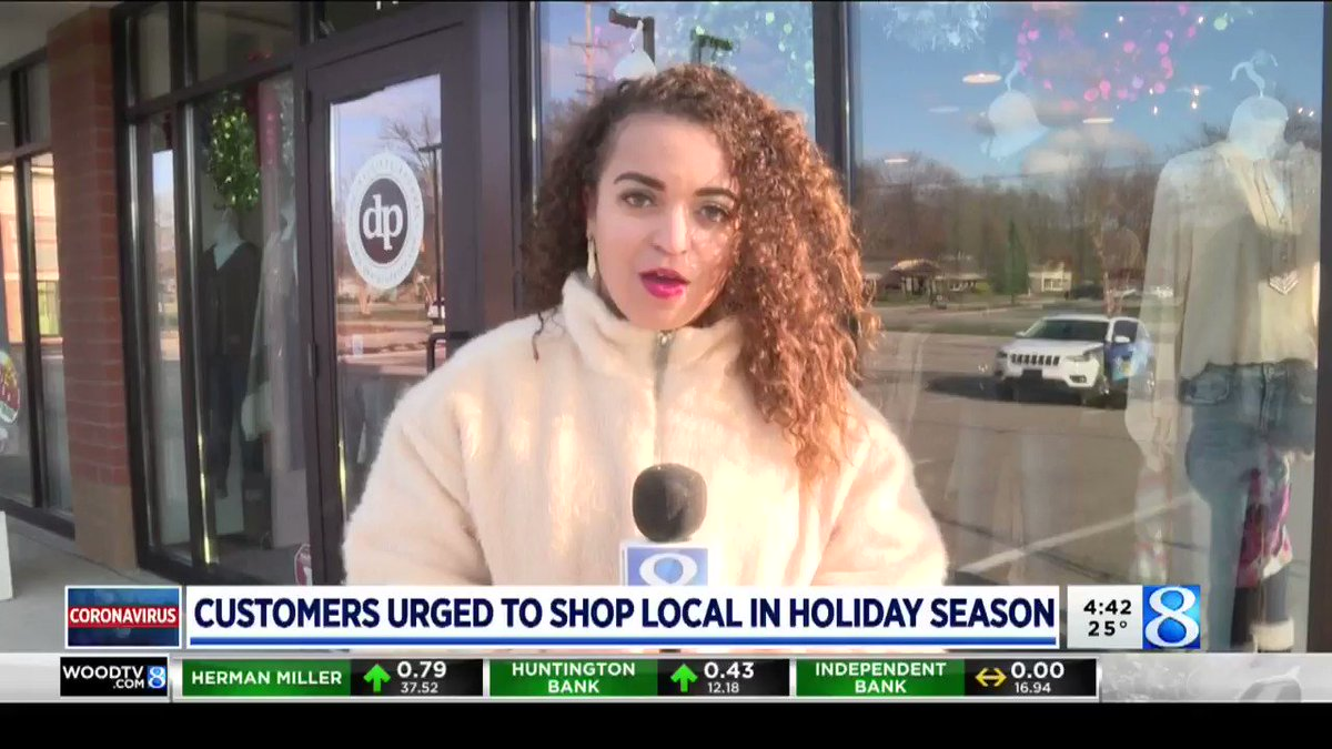 It's #SmallBusinessSaturday! Local business owners are encouraging people to #shopsmall this holiday season. @WOODTV   Full story: