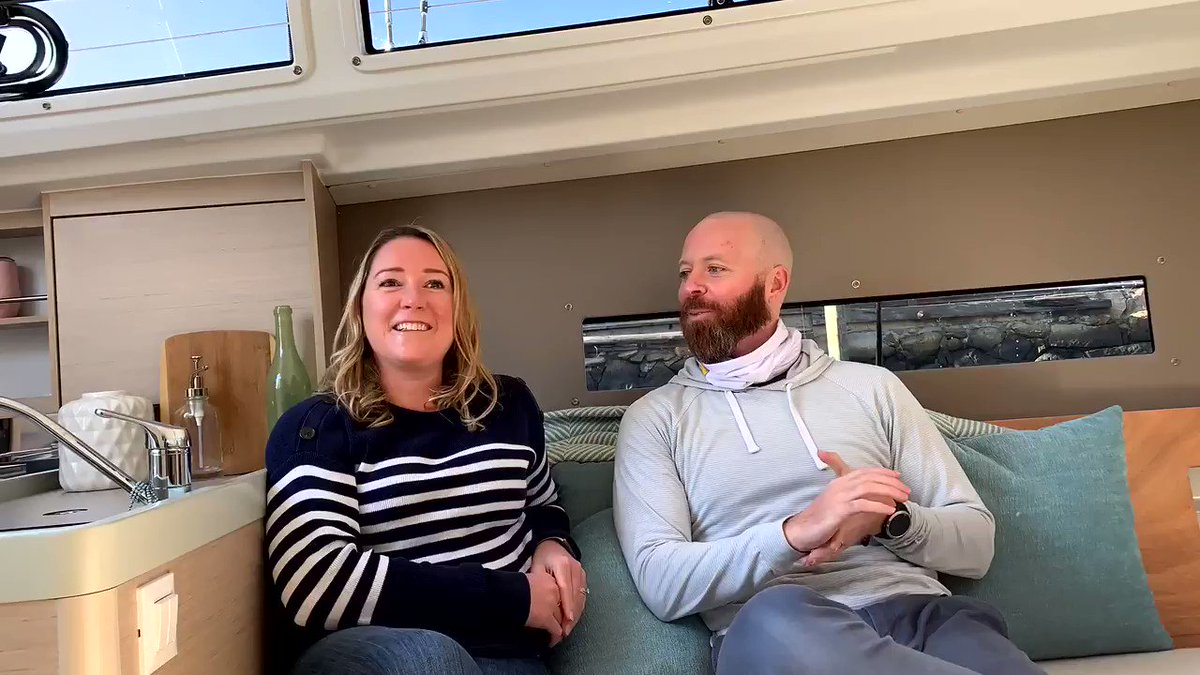 Stay tuned for our talk with new BENETEAU Oceanis 30.1 owners, Ashley and Nate!   #beneteau #oceanis301#beneteausail #endlesssummer #saillife #sailinstagram #liveaboardboat #sailboat #boatowner #sailboatowner #beneteaulife