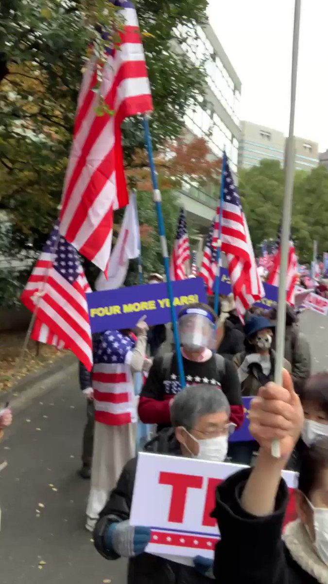Japan marching in support of .@realDonaldTrump and his victory in 2020 election. They know it and every individual with basic math skills know it. Trump will have a second term! Shout out to @LLinWood @SidneyPowell1 for the unwavering fight for freedom
