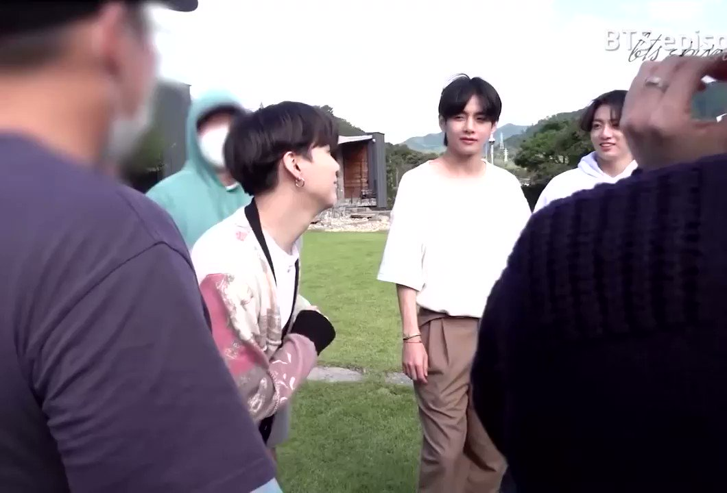 """So the choreography at Yoongi's """"Mm,Mm,mm,Mmm"""" is this💡😆💜  #BTS #BTS_BE #LifeGoesOn  @BTS_twt"""