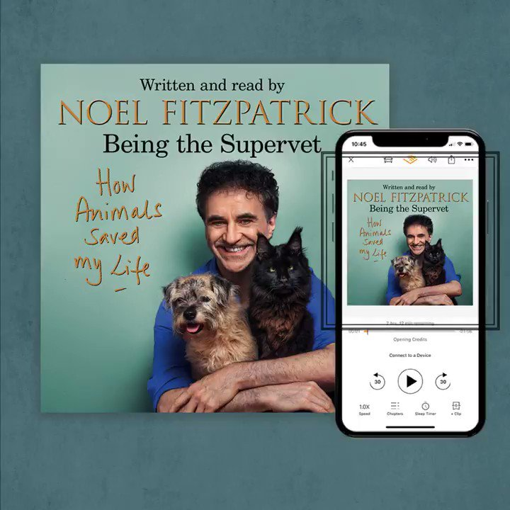 🔈Sound on 🔈  We are thrilled @ProfNoelFitz has recorded the audio for the audiobook of HOW ANIMALS SAVED MY LIFE! Listen to an exclusive clip below 👇  The audiobook is available to order here: