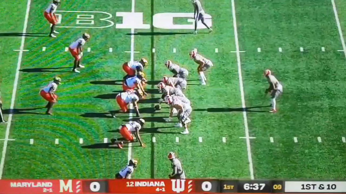 Re: Luke Haggard run-blocking. Watch him and Mike Katic help drive David Ellis forward for about another four or five yards. #iufb