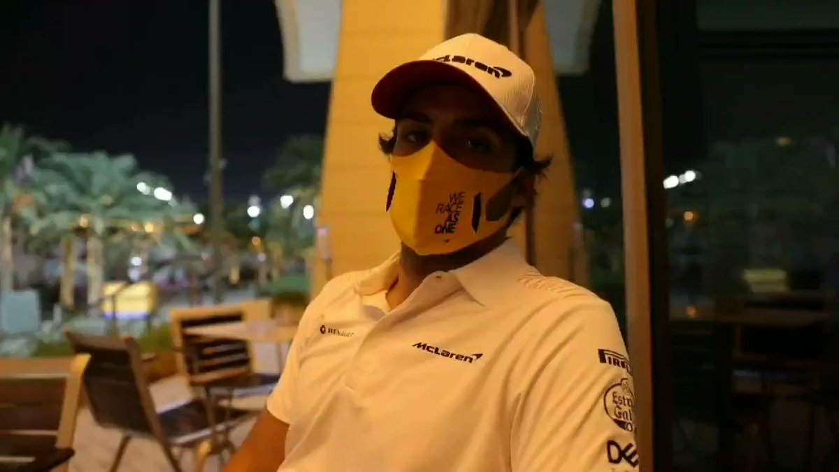 """""""It was a huge relief to see him jump out of that accident.""""   💬 @Carlossainz55 dedicates his post-race video to Romain and gives his reaction to the #BahrainGP."""