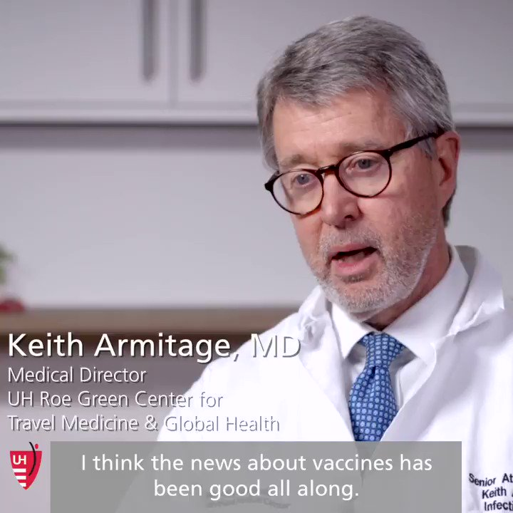 Multiple #COVID19 vaccine trials, including the @pfizer trial involving University Hospitals, have so far indicated safety and effectiveness. When will they be publicly available? Dr. Keith Armitage explains.