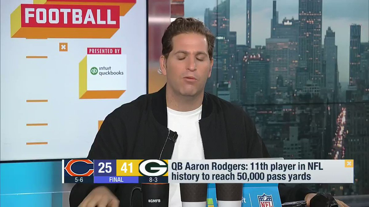 """""""They broke out 'Roll Out the Barrel'. They played 'Jump Around'. There were some fans in the crowd. Lambeau almost felt like Lambeau. As I look at the NFC, there's no QB I'd rather have right now than @AaronRodgers12. He's dialed in, and so are the @packers. """"-- @PSchrags"""