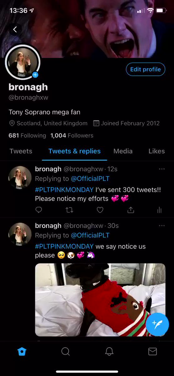 @OfficialPLT #PLTPINKMONDAY I've sent over 300 tweets! Pls notice my efforts 🦄🦄 I've prob made up most of the replies under this tweet lol