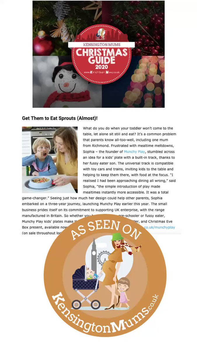 We are delighted to feature in @kensingtonmums Christmas gift guide today. Check it out for inspiration  #MondayMotivation #gifts #ChristmasIsComing #holidayseason