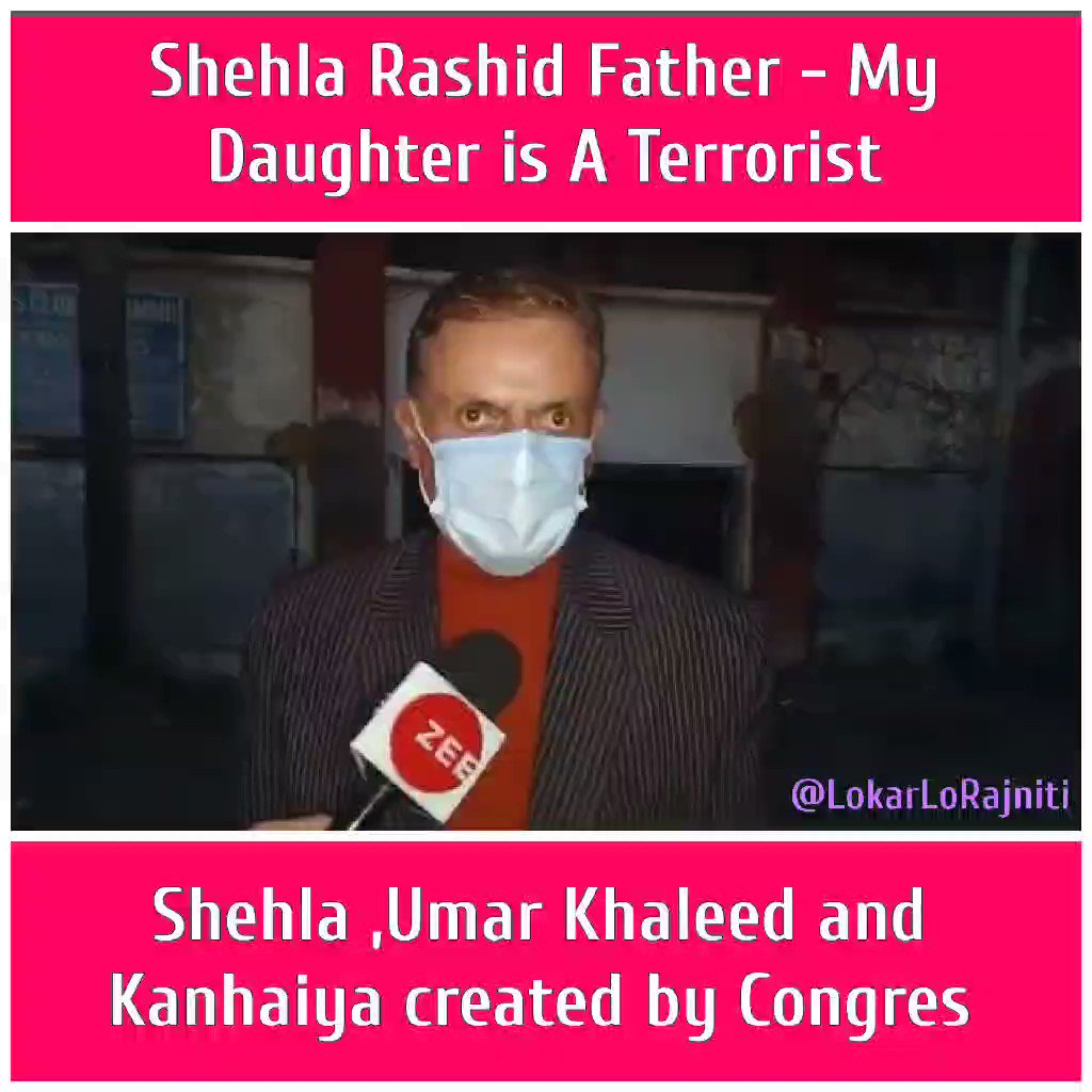 Father remains father, he always worried about his children !  #Shehla #shehlarashid #TukdeTukdeGang