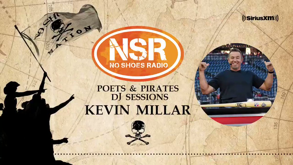 "A new week = a new host for NSR's ""Poets & Pirates DJ Sessions!"" @MLBNetwork's @KMillar15 takes over the controls TODAY at 12p ET/9a PT! Ever wonder why he chose specific walk-up songs during his playing career? Listen to the clip below & catch his DJ hour all week for more! 🎸🏴‍☠️"