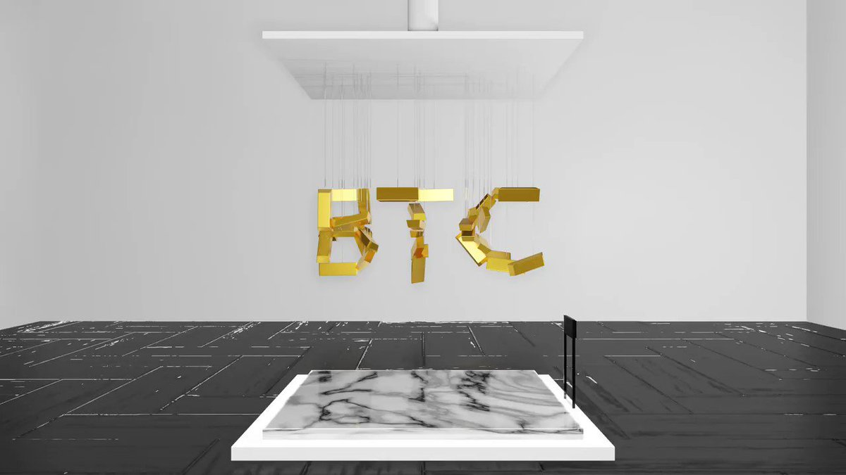 """""""Bitcoin Bull-ions"""" the first of my parallax displays. Only available on @SuperRare_co 💎 For any of those involved in @decentraland I have a .glb version of the display for the collector to put in their DCL gallery if they choose.  https://t.co/l9JxtJZSOm https://t.co/MO6e9qB35u"""