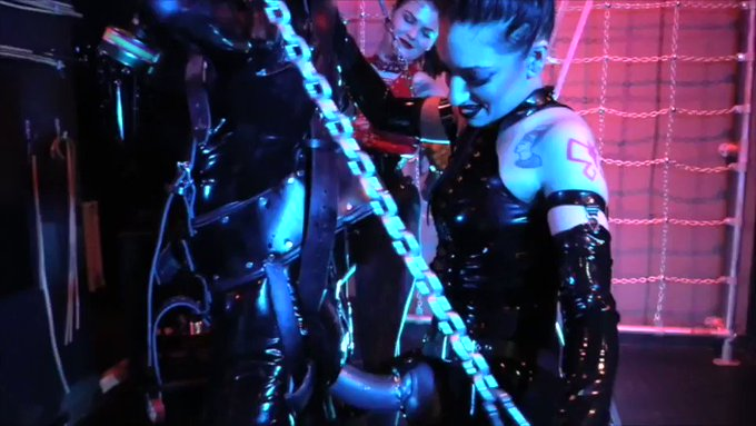 """""""BRING THE PAINAL!""""  (Extreme Heavy Rubber Suspended Strap-On & Fisting) #STRAPON #fisting #rubber   SEE"""