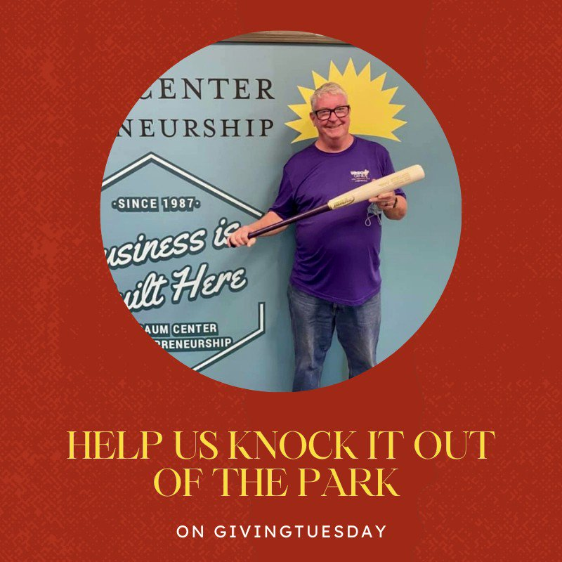 Make a donation on #GivingTuesday and help entrepreneurs like Jim knock it out of the park. #businessisbuilthere #Entrepreneurship