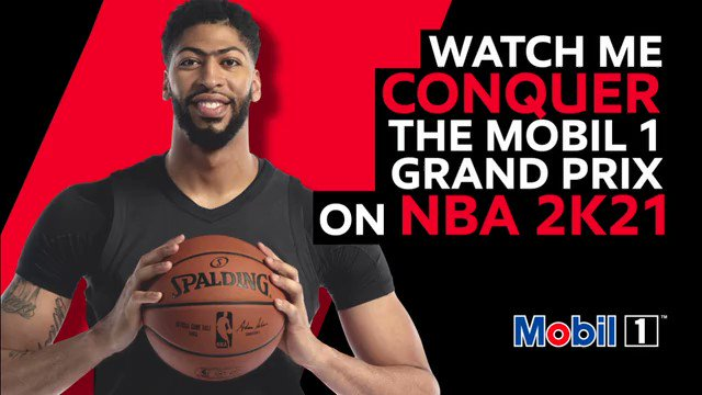 Any @NBA2K fans out there? That's what I thought 😂 Check out my #NBA2K21 livestream now and stay posted for a live Q&A and exclusive giveaways, in partnership with @mobil1. ()