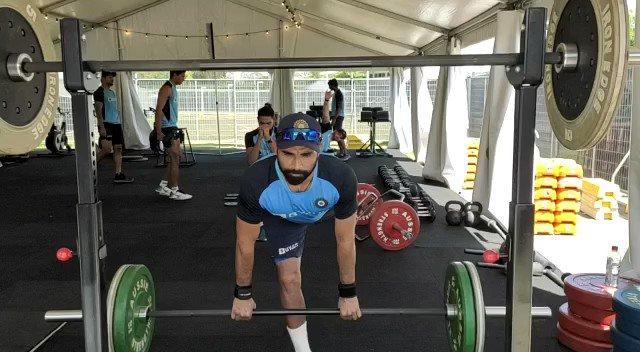 Hard work never stop.hustling🏃🏽♂️#TeamIndia #mshami11