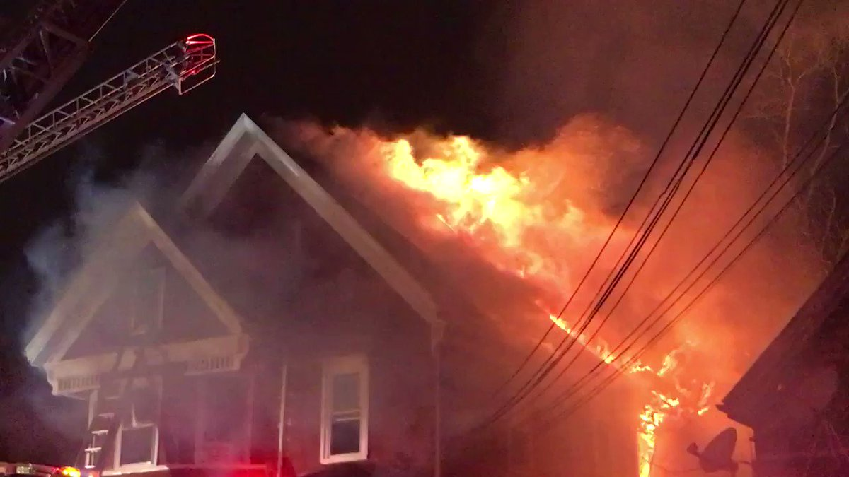Brockton fire is currently operating at a second alarm 584 Crescent St.. @IAFFNewsDesk