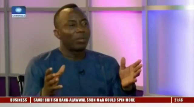 """""""The people around during the 1990s Abiola's time are the ones who are still around. The military generals though now retired, the Obasanjo's, Babangida's & Abubakar's. These people don't want any fundamental change that is revolutionary"""" - @YeleSowore  It's time to #FreeSowore"""
