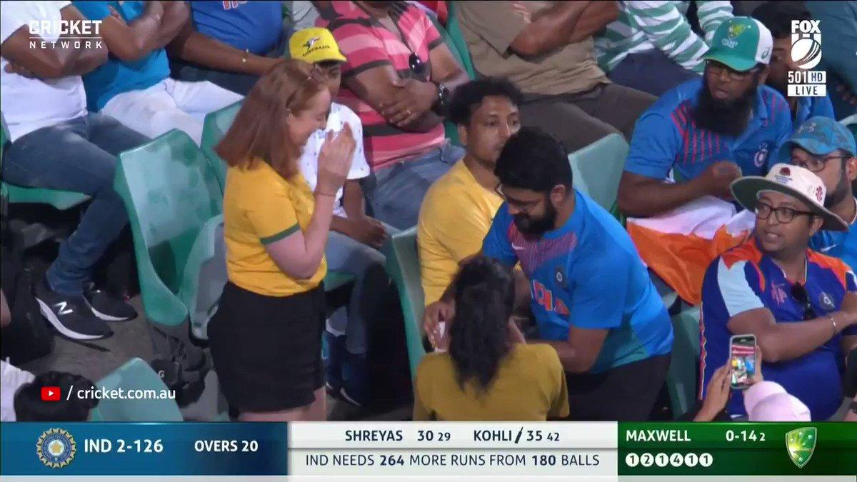 It's a match. Inside a match. @CricketAus