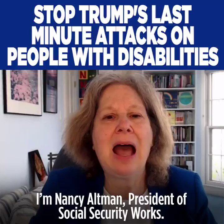 As he leaves office, Donald Trump is finalizing cruel rules to create barriers for disabled people to receive Social Security, and to endanger the Social Security benefits of disabled people.  @SSWorks and I are sounding the alarm to shine a light on this. https://t.co/U6XBIwRyIm