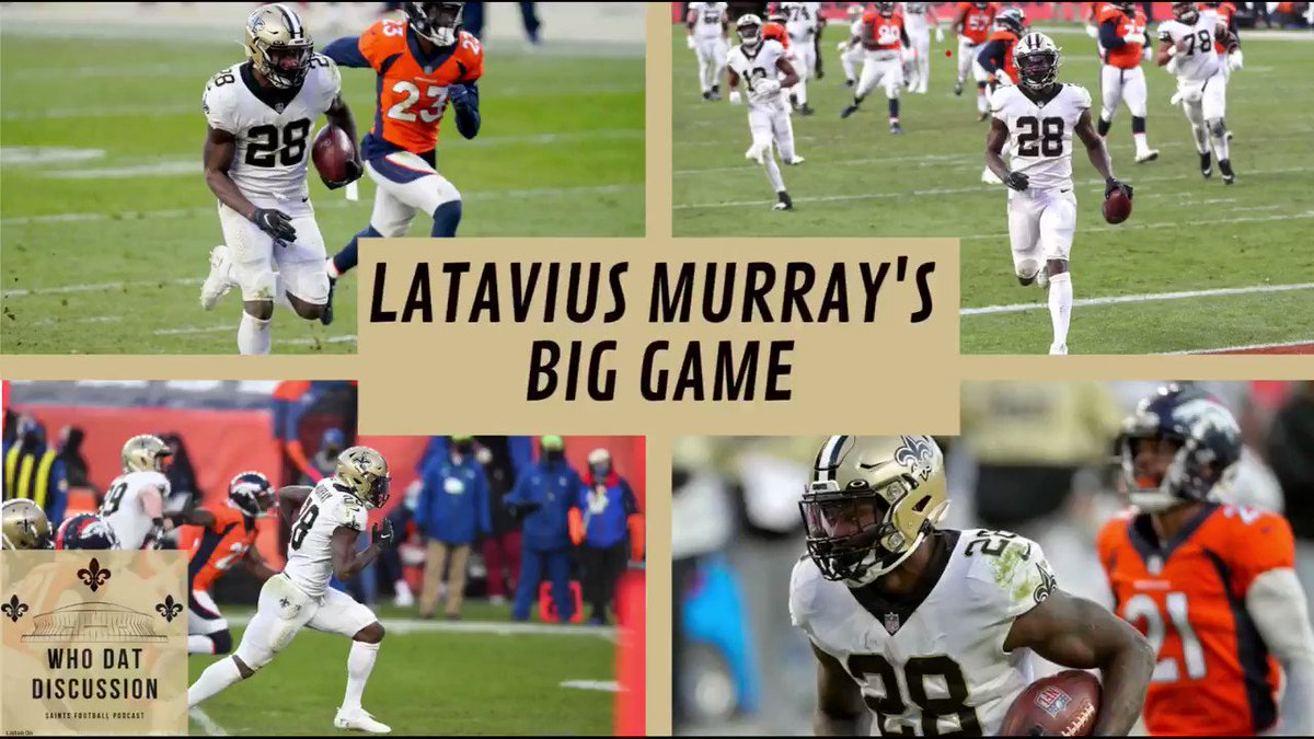 Latavius Murray rushed for 124 yards & 2 TDs on Sunday!   My thoughts on him and the #Saints dominant rushing attack vs. Denver:  Check out my full recap of #NOvsDEN:   iTunes:   More: