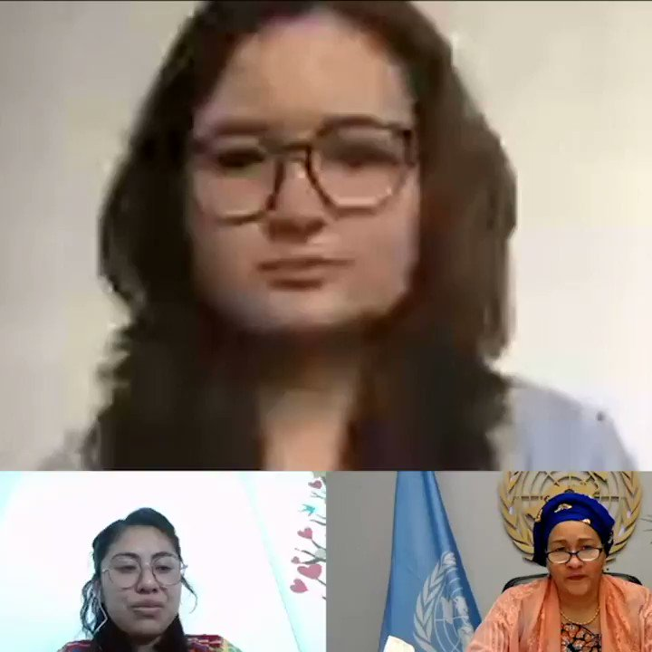 """""""We're focusing on people & solutions.""""  @UN Deputy Secretary-General @AminaJMohammed discusses with youth advocate @MarieClaireGraf how the @FoodSystems Summit will actively involve young people – watch in full here! 👇    #FoodSystemsHero @RealFoodSystems"""