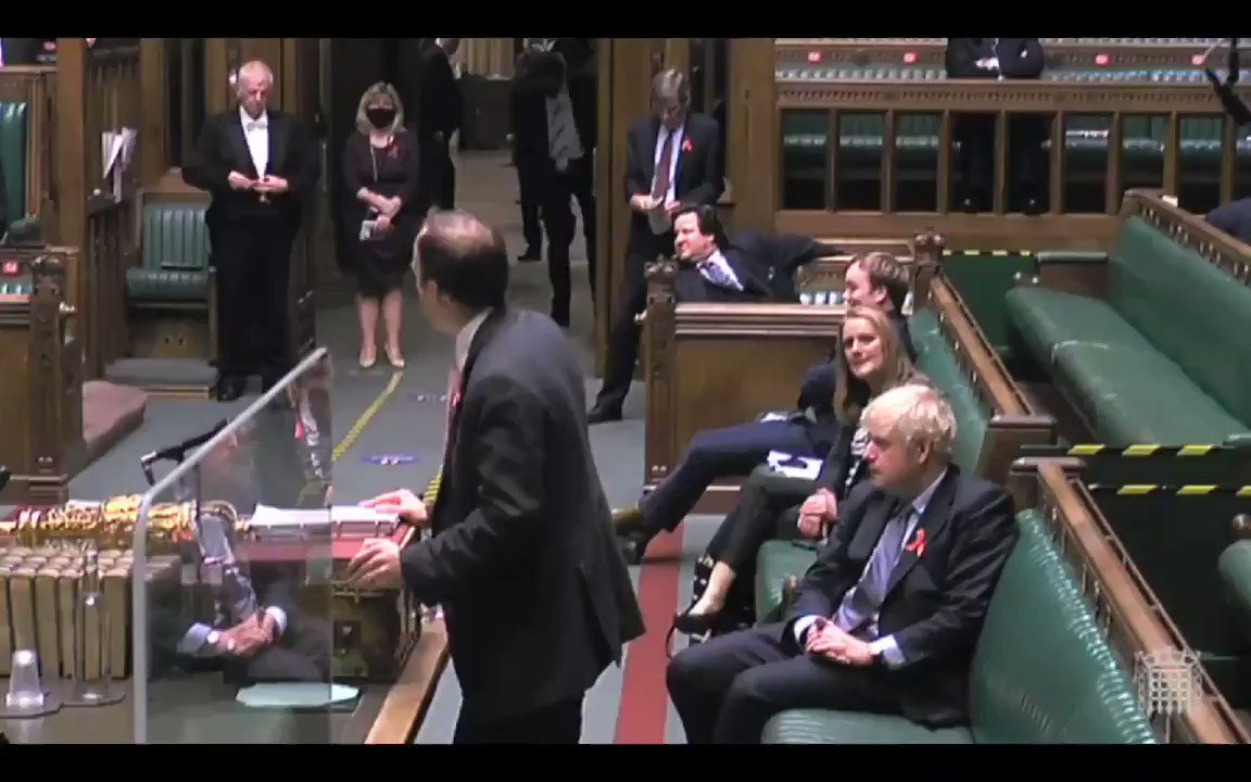 BREAKING: Health Secretary @MattHancock reveals in an emotional statement to Parliament that his step-grandfather Derek died from covid-19 last month. Very sad news for him & his family.