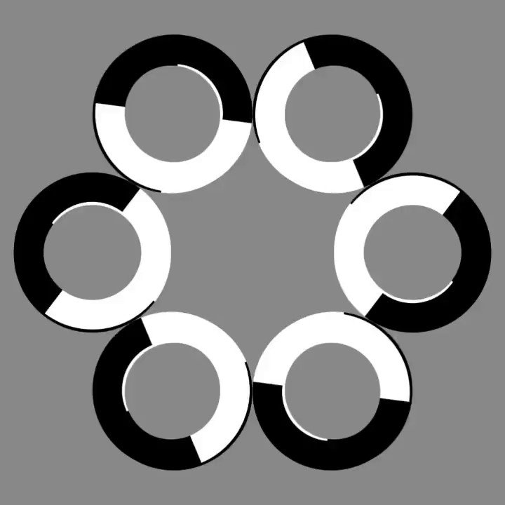 Image for the Tweet beginning: Are the circles moving? #Visual