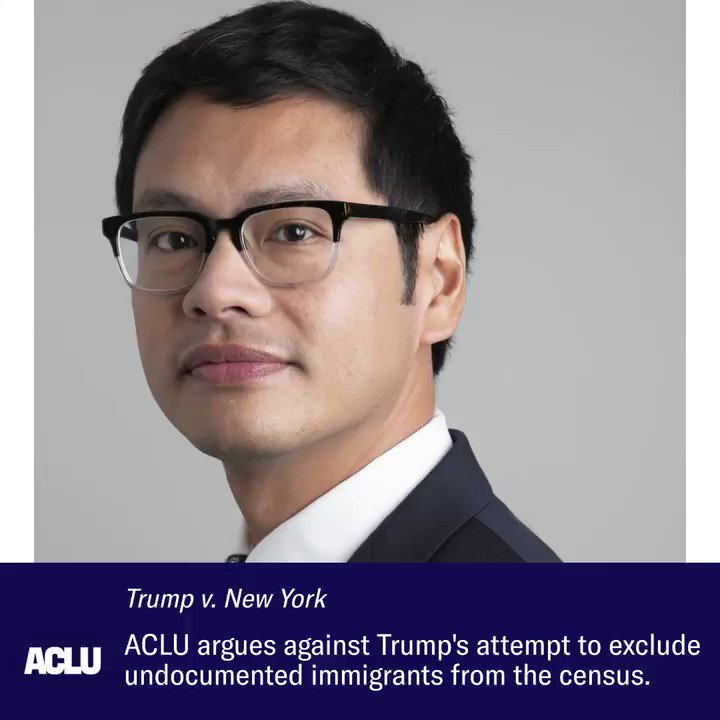 """They're our neighbors, our coworkers, and our family members.""  Our voting rights project director, @dale_e_ho, argued virtually before the Supreme Court yesterday, reminding the Trump administration that the census counts every person in the United States."