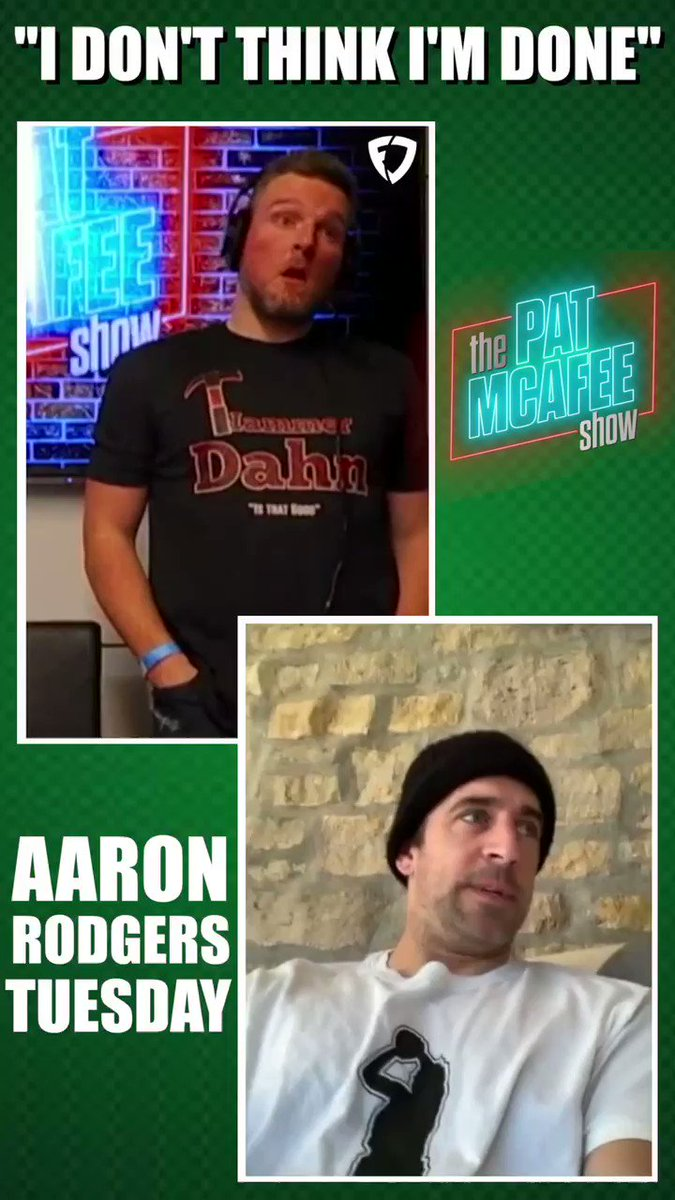 Grateful for another ⚡️⚡️ @AaronRodgers12 Tuesday..  The Jordan Love draft choice from the Packers spurred A LOT of convos from folks talking OUT OF POCKET about Aaron. He's still THE MAN. Full convo is up and available.  @evanfoxy with the 🔥🔥 EDIT.