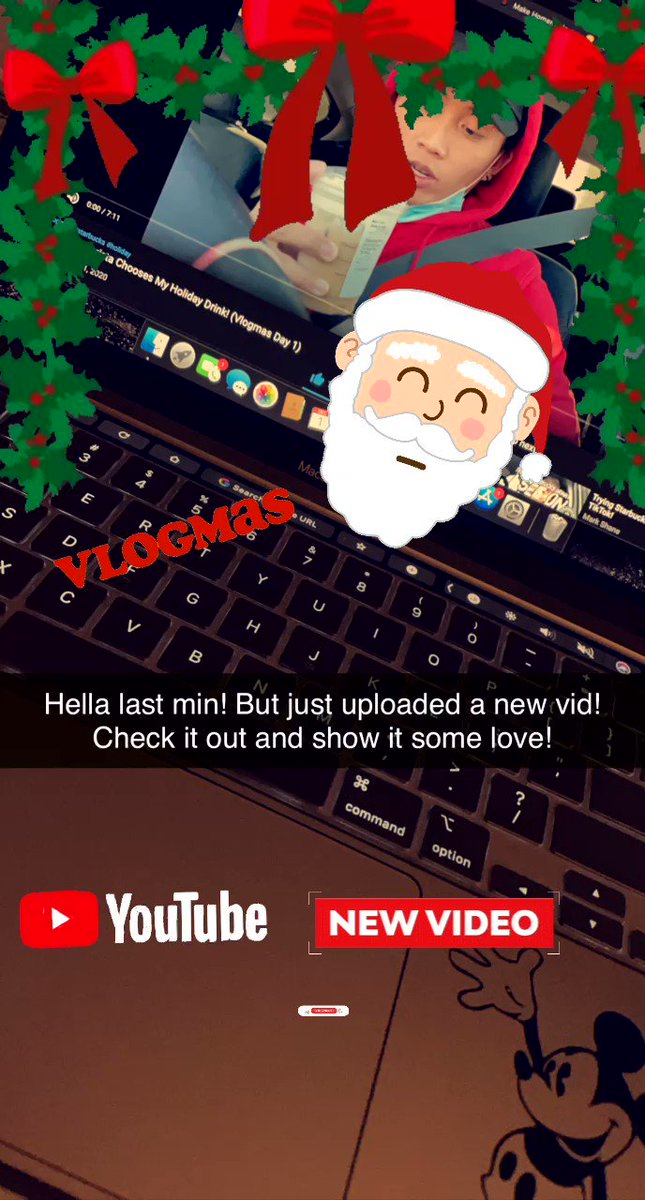 I'm doing vlogmas! Check out the new video and show it some love! Subscribe if you haven't yet! Thanks y'all! Much love ☺️ #VLOGMAS #youtube #smallyoutuber #newvideo
